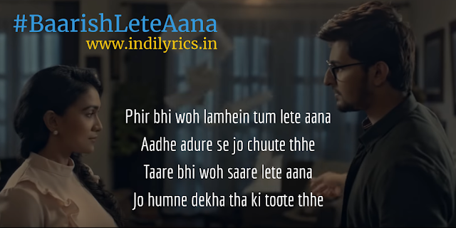 Aati ho to baarish lete aana | Darshan Raval | Audio song lyrics with English Translation and Real meaning