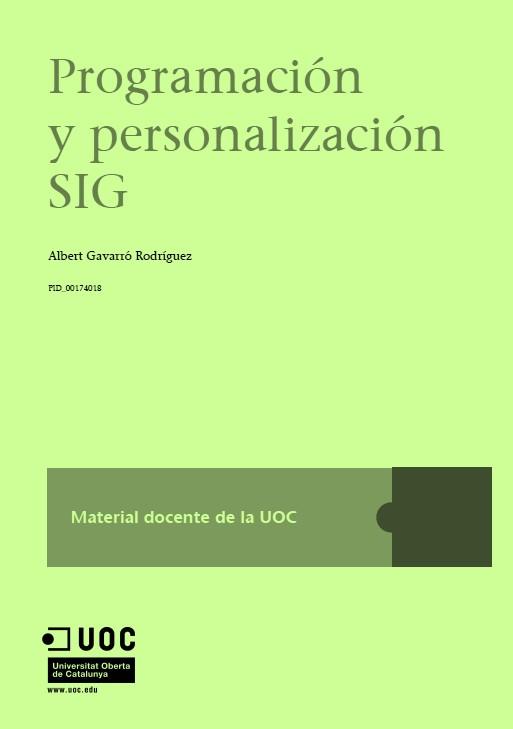 Programación y personalización SIG – Albert Gavarró Rodríguez