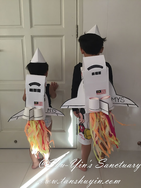 Kids DIY Halloween Costume: The Making of Space Shuttle Costumes