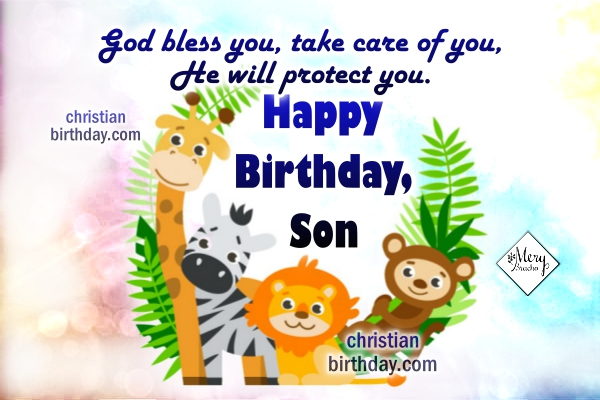 Happy Birthday Dear Son Birthday Cards for my Boy – Happy Birthday Card Son