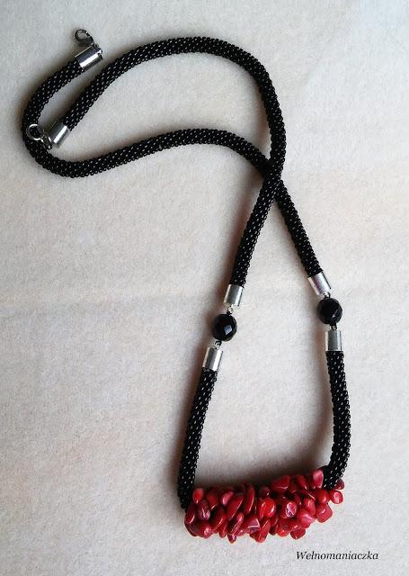 Naszyjnik zrobiony z bransoletki