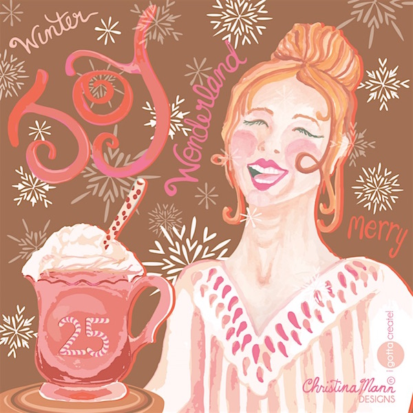 Cocoa Joy (c) by Christina Mann Designs is available for licensing.