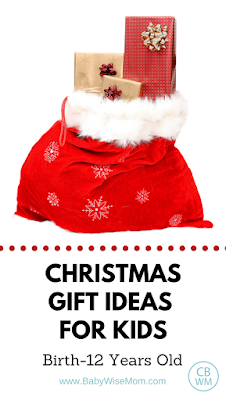 Gift guide for children from birth on up to preteen. Gift ideas | toys | #giftsforkids