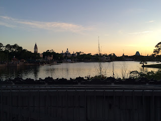 disney world epcot sunset