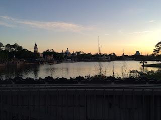 disney world epcot sunset