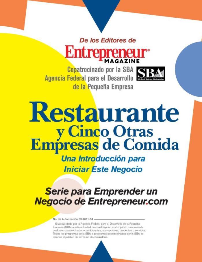 Restaurante y cinco otras empresas de comida