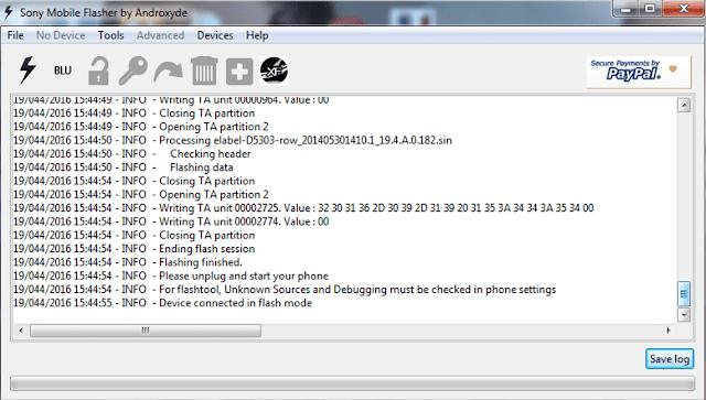 Flashing Sony Xperia T2 Ultra Single SIM (D5303) Bootloop