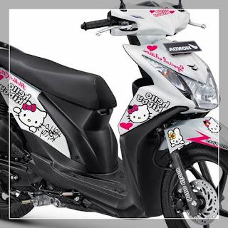 20 Kumpulan variasi stiker motor honda beat modifikasi yang paling keren