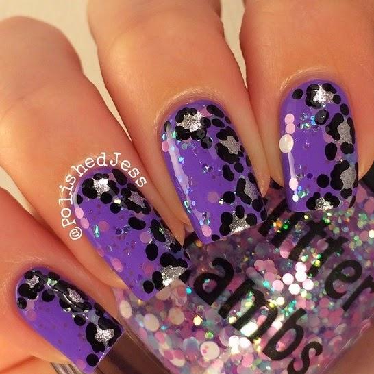 "Glitter Lambs ""Kawaii Bake Sale"" nail polish worn by @PolishedJess"