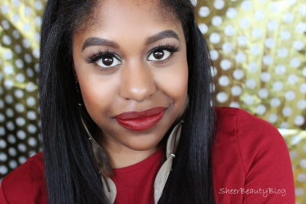holiday makeup looks red lime crime lips