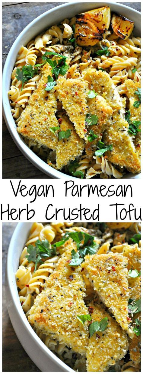 Vegan Parmesan Herb Crusted Tofu