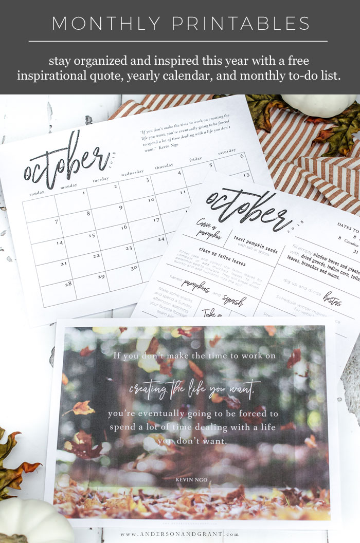 Free Printables for October