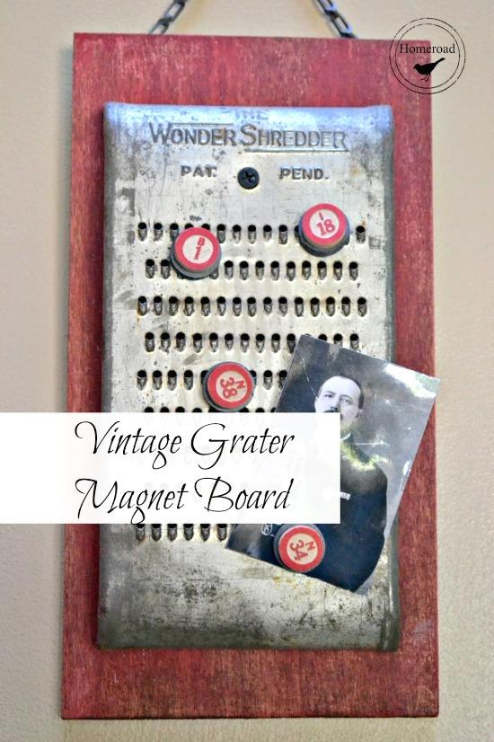 How to make a DIY vintage grater Magnet board