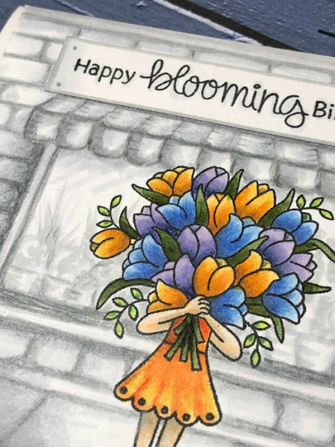 Happy Blooming Birthday Card by March Guest Designer Jane Clark | Loads of Blooms Stamp Set by Newton's Nook Designs #newtonsnook #handmade