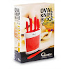 OX-906 6Pcs Oxone Oval Knife Block with Bristle - Merah