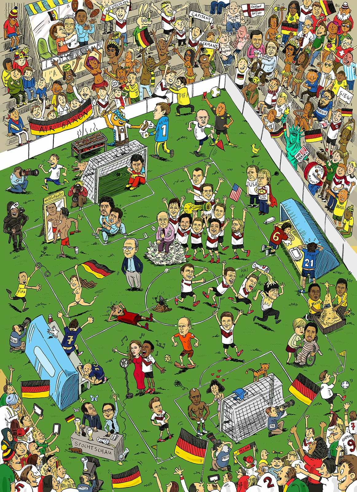 Wimmelbild Fußball