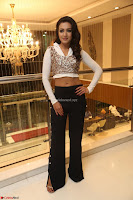 Catherine Tresa in a White Glittering Crop Top Black Leggings  Exclusive 05.JPG