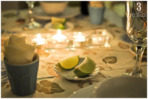 mesa posta romântica