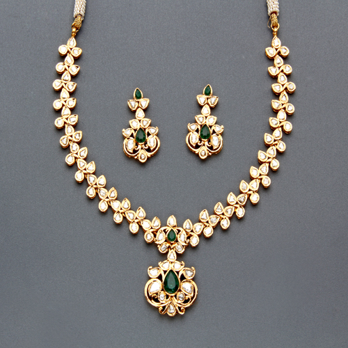 Indian Jewellery And Clothing: Indian Jewellery And Clothing: Polki Necklace Sets From