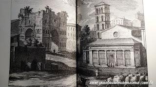 """Imagem de livro """"Le chiese di Roma"""" de Carlo Rendina da Igreja de São Jorge al Velabro no século XVIII"""