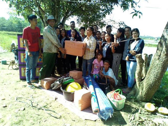 Karang Taruna Desa Bailaagu Sambagi Korban Kebakaran