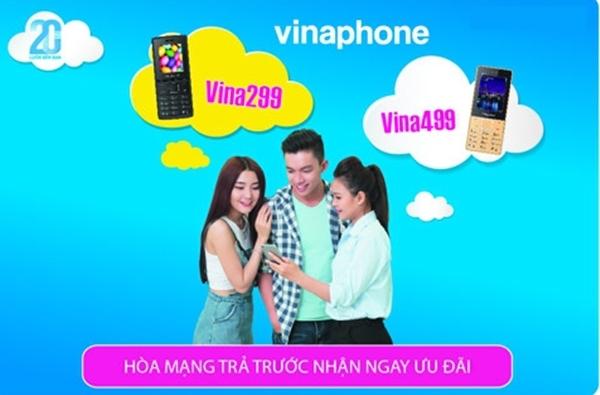 Hòa mạng Vina 299 và Vina499 tặng điện thoại và 500,000đ vào tài khoản