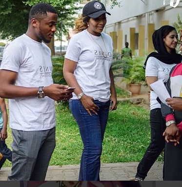 What divorce? Lilian Esoro and Ubi Franklin step out in matching outfit to a public function (Photos)