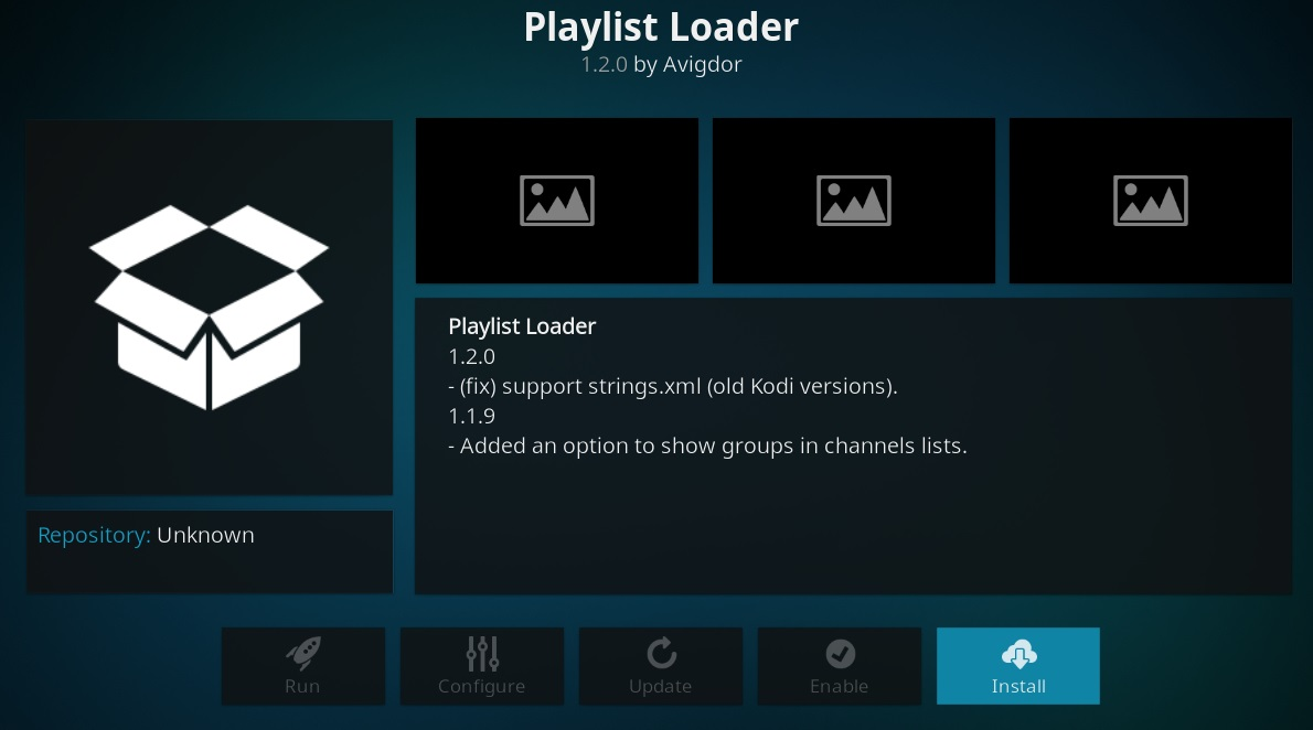 How to download and install latest version of Playlist loader
