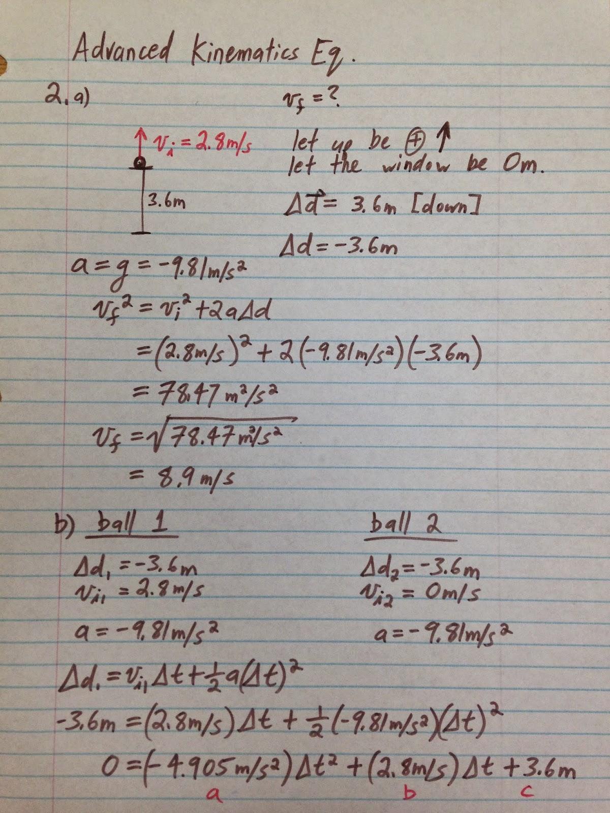 Unit 8 Quadratic Equations Homework 10 Word Problems