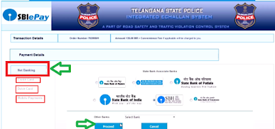 Step 5: Pay Traffic E-Challan Online