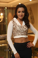 Catherine Tresa in a White Glittering Crop Top Black Leggings  Exclusive 03.JPG