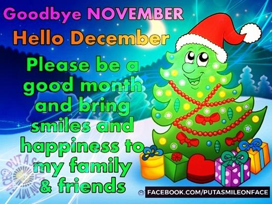 Saying GoodBye Nov and Hello December