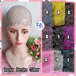 inner pesta glitter motif mahkota