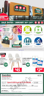 Guardian Drugs Weekly Flyer Circulaire January 18 - 24, 2018