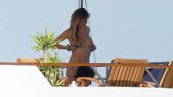 Heidi Klum in bikini during her vacation with her young boyfriend
