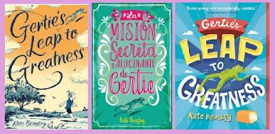 portadas de la novela juvenil La misión secreta y alucinante de Gertie, de Kate Beasley