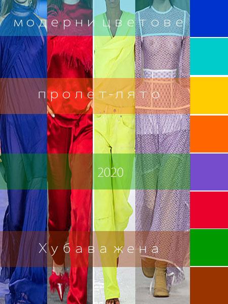 Цветови тенденции и модерни цветове пролет-лято 2020