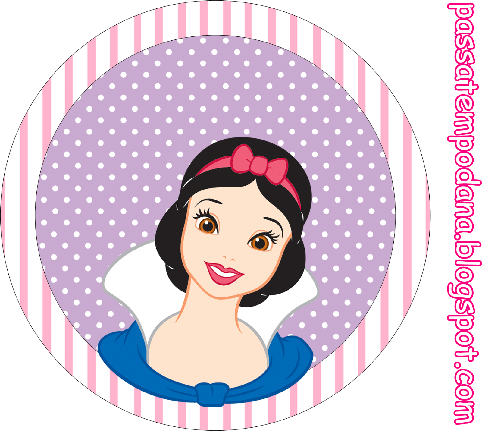 Disney Princess Birthday: Free Printable Cupcake Wrappers and Toppers.