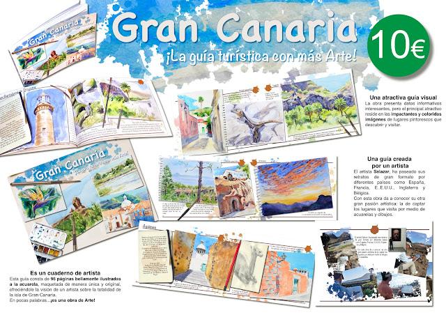 Libro de acuarelas de Gran Canaria. Patrimonio de acuarelas de Gran Canaria.