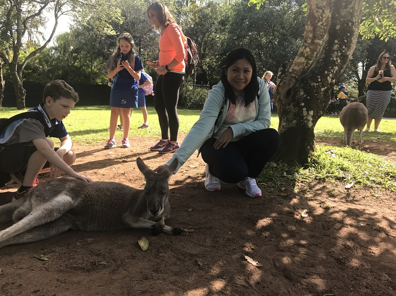 mom with a australia kangaroo
