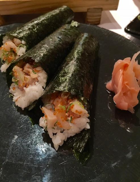 Yokoyama, tuna rolls