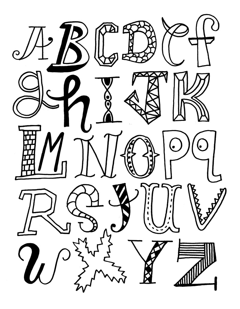 Alphabet letters coloring pages realistic coloring pages - Alphabet dessin ...