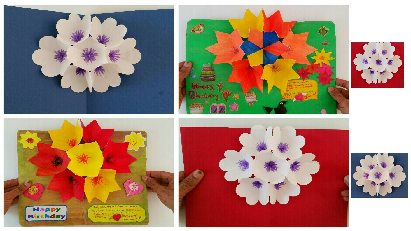3d Popup Flower Bouquet Greeting Cards For Birthdays Special Events