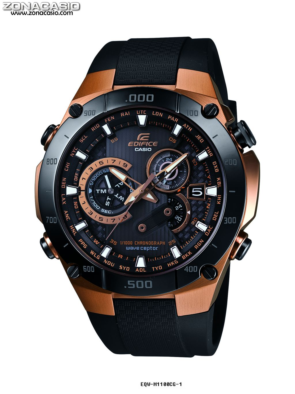 This is a photo of Agile Casio Edifice Gold Label Efx 510p