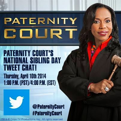 Paternity Court's National Sibling Day Twitter Chat with Judge Lauren Lake & K.Mac