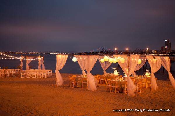 Beach Wedding Decorations Night