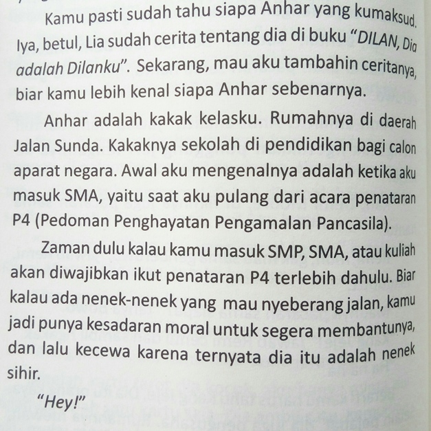 kata kata novel dilan 1991