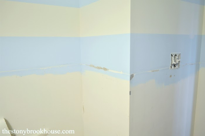 Trim rips off drywall
