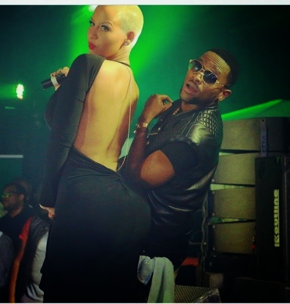 amber rose walked out dbanj