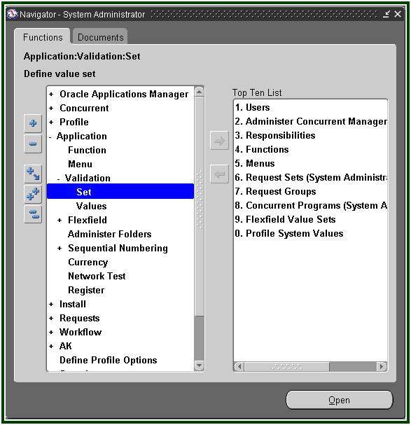Oracle Applications: AOL - Creating Custom Account Flex